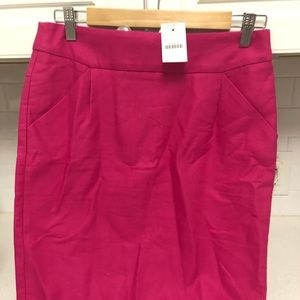 JCREW Factory The Pencil Skirt Dk Bright Pink 4